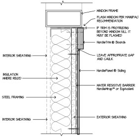 Construction cad details hardiepanel window sill download dwg pdf shx ctb hardieplank steel frame siding details altavistaventures Choice Image
